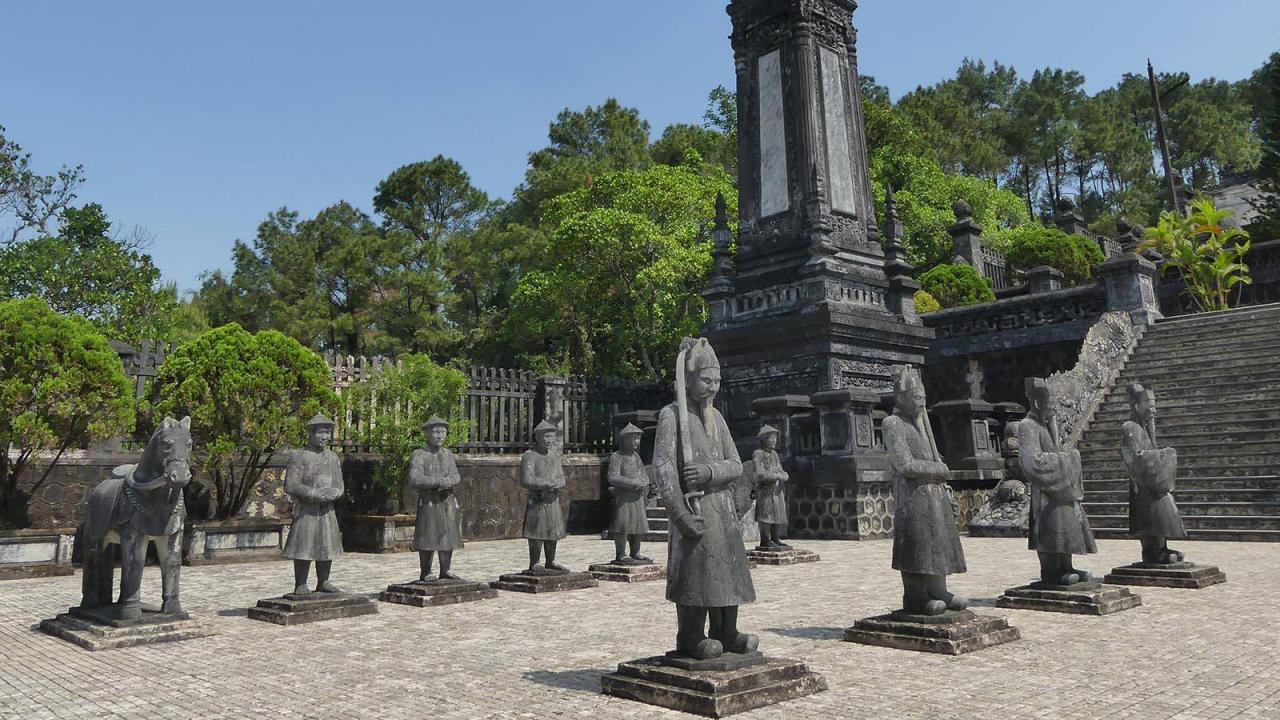 Khai Dinh Tomb in Hue, Tomb of Emperor Khai Dinh, Hue Vietnam
